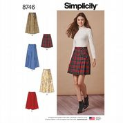 8746 Simplicity Pattern: Misses' Wrap Skirt